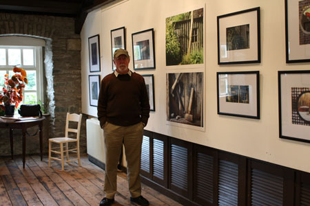at the launch of my exhibition at the Mill on the Fleet