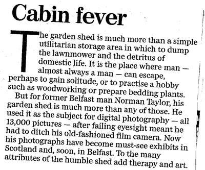 Belfast Telegraph editorial 23rd Feb 2010