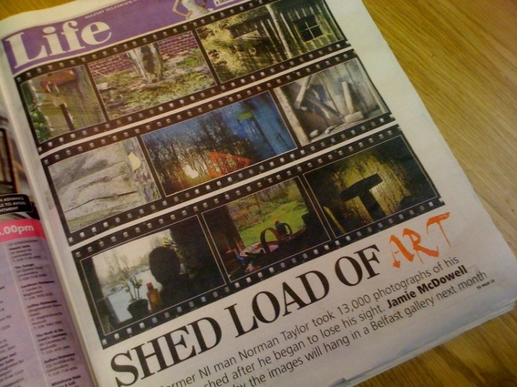 Norman Taylor Shed Story in Belfast Telegraph